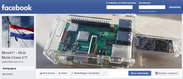 Facebook pagina MultiModeCross (MMX411)